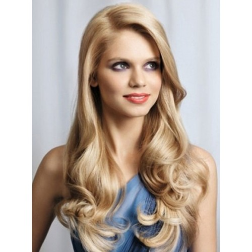 """24"""" #24 Sandy Blonde Indian Remy Body Wavy Full lace Wig PWFL23"""