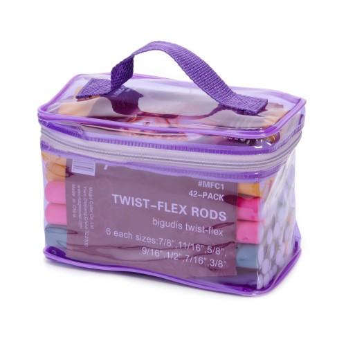 42 Pack Twist-flex Rods, Hair Rollers
