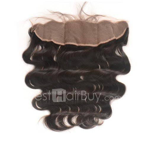 8-20 Inch Virgin Brazlian Hair Body Wavy 13*4 Hand Tied Free Part Lace Frontal Closure