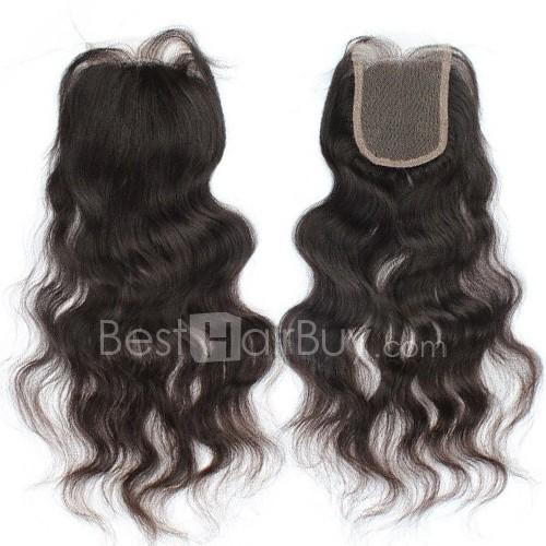 10-20 Inch Virgin Brazilian Hair Loose Wavy 4*4 Free Part Lace Top Closure