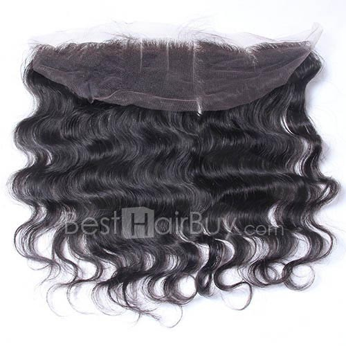8-20 Inch Virgin Brazlian Hair Body Wavy 13*4 Free Part Lace Frontal Closure
