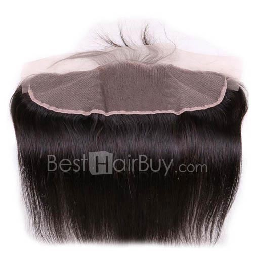 8-20 Inch Virgin Brazlian Hair Straight 13*4 Free Part Lace Frontal Closure