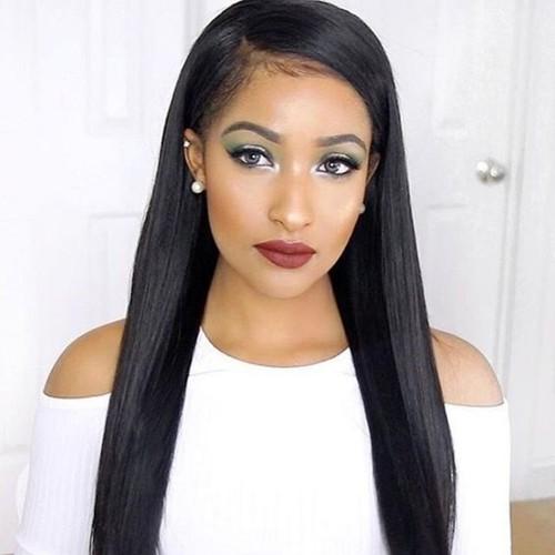 360 Lace Frontal Wig 150% Density Silky Straight Brazilian Virgin Hair