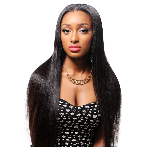 360 Lace Frontal Wig 180% Density Silky Straight Brazilian Virgin Hair