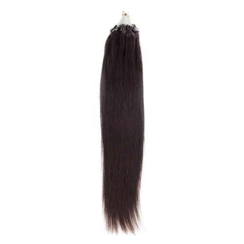 100s 0.5g/s Straight Micro Loop Hair Extensions #1B Natural Black