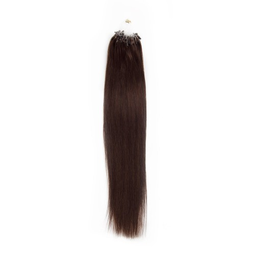 100s 1g/s Straight Micro Loop Hair Extensions #2 Darkest Brown