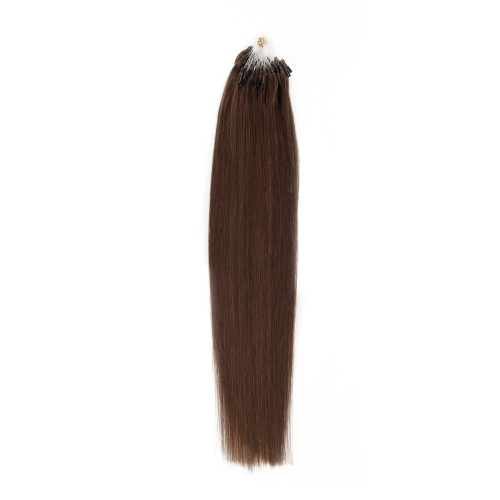 100s 1g/s Straight Micro Loop Hair Extensions #4 Chocolate Brown