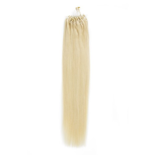 100s 0.5g/s Straight Micro Loop Hair Extensions #613 Lightest Blonde