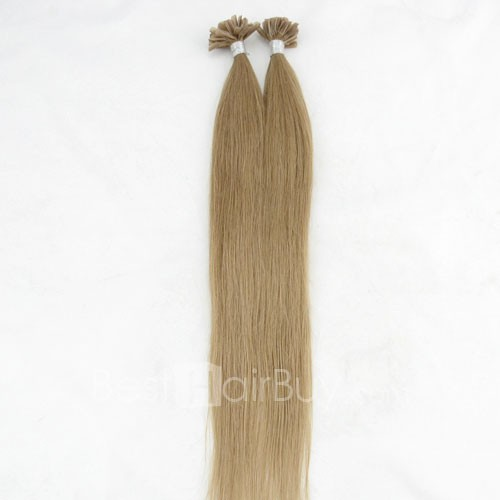 100s 1g/s Straight Nail/U Tip Remy Hair Extensions #10 Blonde