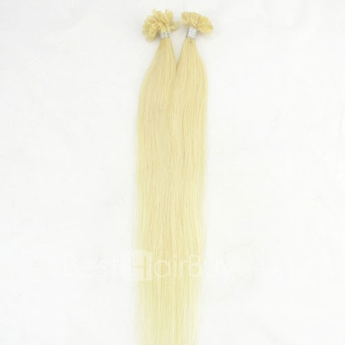 100s 0.5g/s Straight Nail/U Tip Remy Hair Extensions #24 Light Golden Blonde