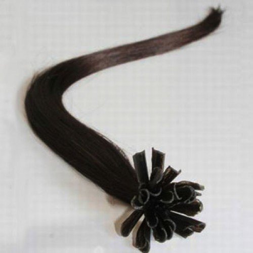 100s 1g/s Straight Nail/U Tip Remy Hair Extensions #2 Darkest Brown