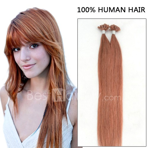 100s 0.5g/s Straight Nail/U Tip Remy Hair Extensions #30 Auburn