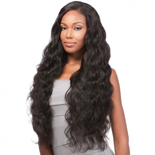 Natural Color Indian Remy Hair Body Wavy Front Lace Wigs PWFU39