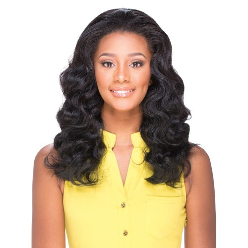 Natural Color Indian Remy Hair Body Wavy Front Lace Wigs PWFU40