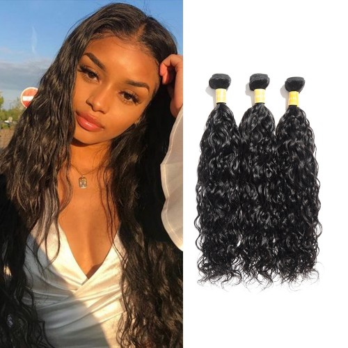 USA Stock Virgin Indian Natural Wavy Hair 3 Bundles