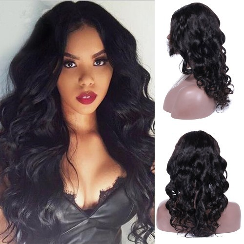 20 Inch #1B Body Wavy Indian Remy Hair U part Wigs PWU17