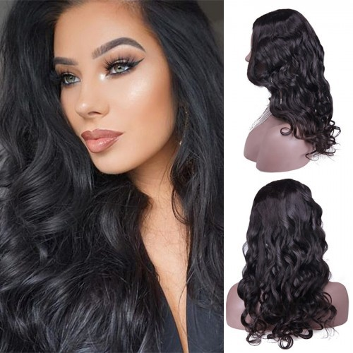 24 Inch #2 Body Wavy Indian Remy Hair U part Wigs PWU28