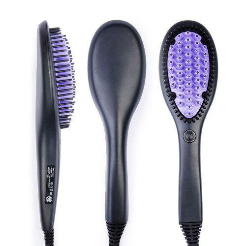 Purple Hair Straighen Brush HT13