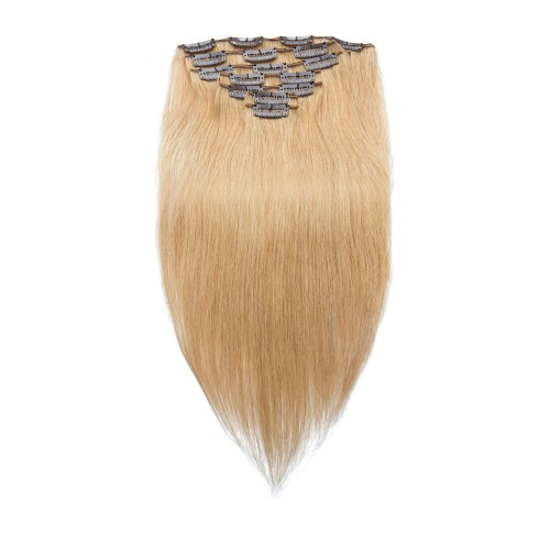 7pcs Straight Clip In Remy Hair Extensions #27 Strawberry Blonde
