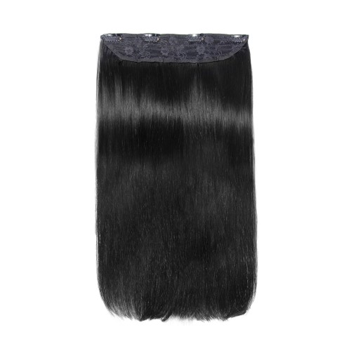 Straight Remy Lace Clip In Hair #1 Jet Black