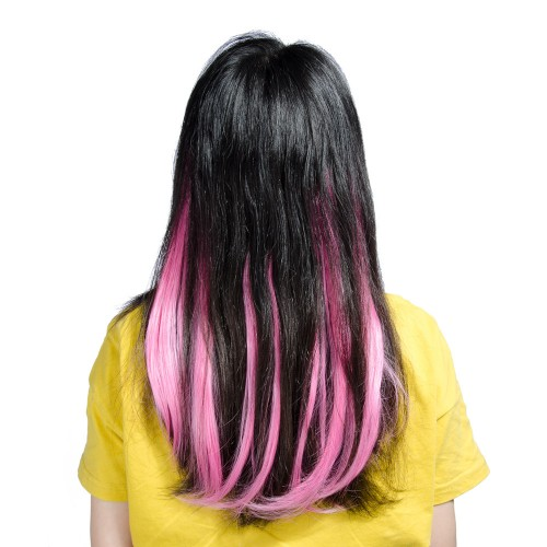 Pink Synthetic Flip in Hair