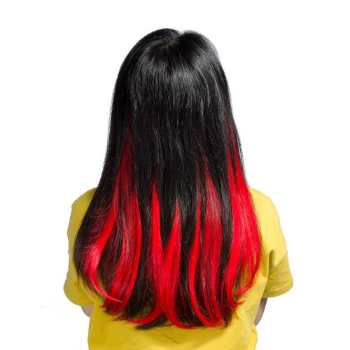 Red Synthetic Flip in Hair