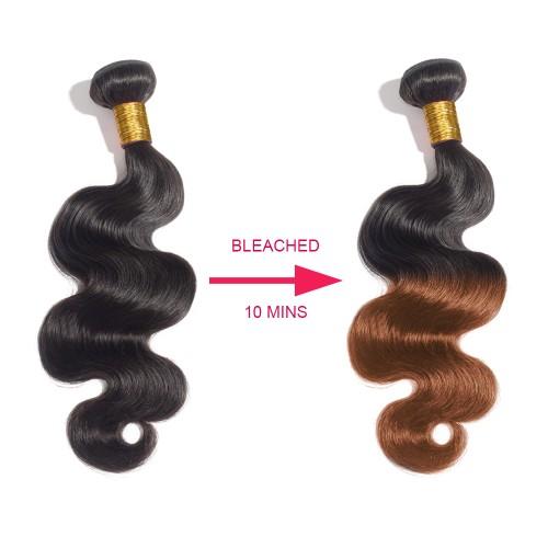 10-Minutes-Bleach 3 Bundles Body Wavy Virgin Hair