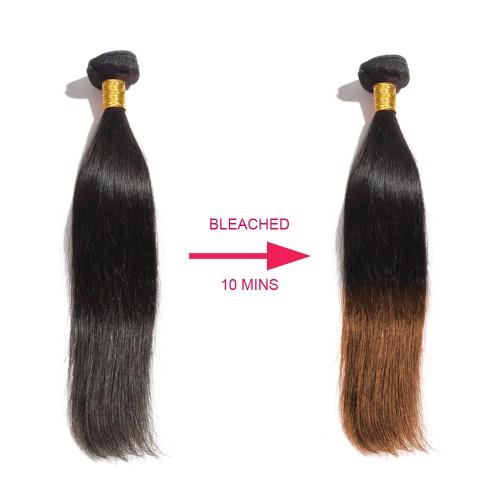 10-Minutes-Bleach 3 Bundles Straight Virgin Hair