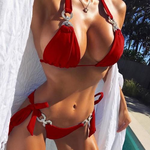 Sexy String Bikini Set SW1004 - Red L
