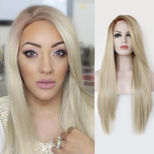 【Aniela】Synthetic Lace Front Hair Wig PWS181 Straight