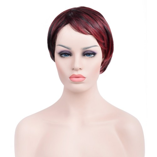 Custom Synthetic Lace Front Hair Wig PWS283 Straight