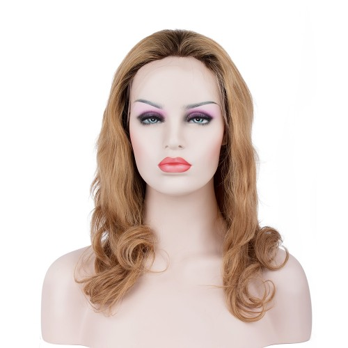 Custom Synthetic Lace Front Hair Wig PWS287 Natural Wavy