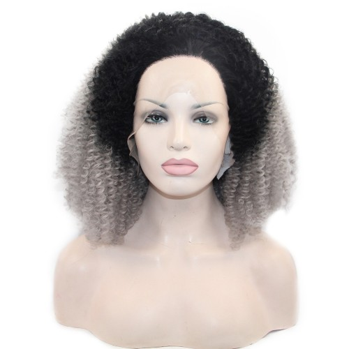 Synthetic Lace Front Hair Wig PWS290 Curly