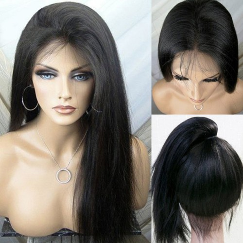 Lace Front Synthetic Hair Wig PWS411 Yaki Straight