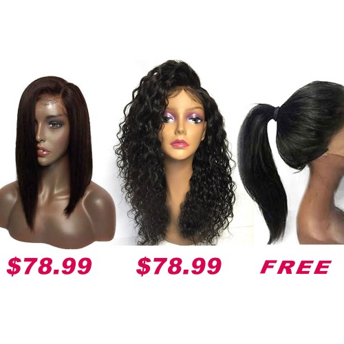 Buy 2 Get 1 Free Curly Wigs Sale On Summer Pack PWSF416