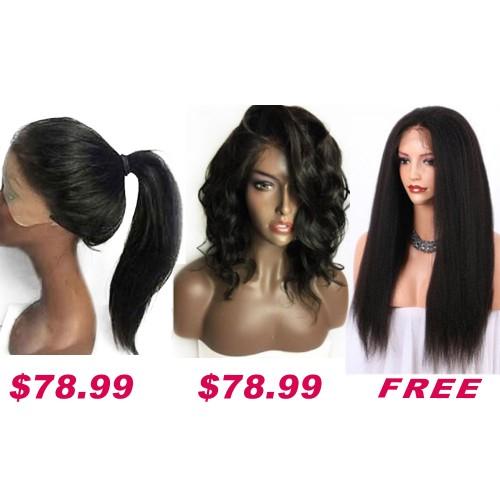 Buy 2 Get 1 Free Curly Wigs Sale On Summer Pack PWSF421