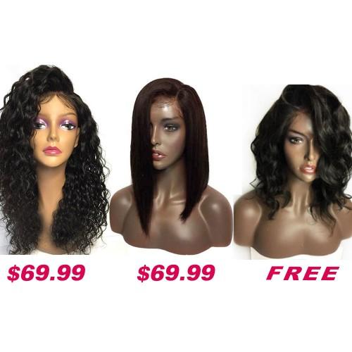 Buy 2 Get 1 Free Curly Wigs Sale On Summer Pack PWSF423