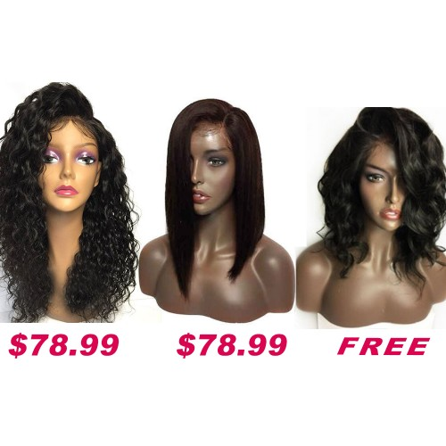 Buy 2 Get 1 Free Curly Wigs Sale On Summer Pack PWSF423