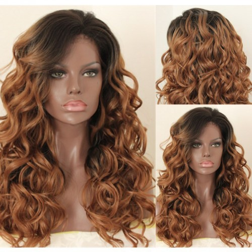 Lace Front Synthetic Hair Wig PWS428 Curly