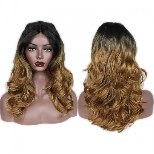 Lace Front Synthetic Hair Wig PWS431 Body Wavy