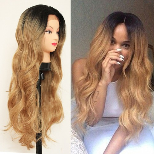 Lace Front Synthetic Hair Wig PWS435 Natural Wavy