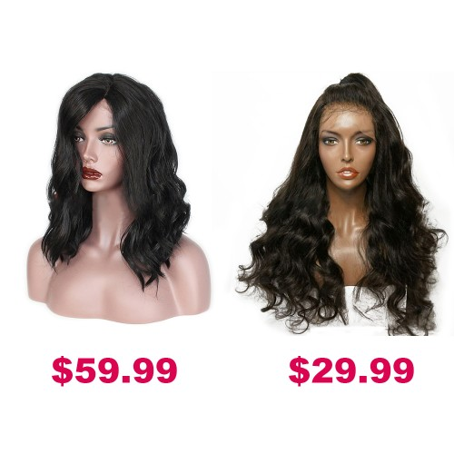 Buy One Get Second Half Price Synthetic Wig Pack PWSF457