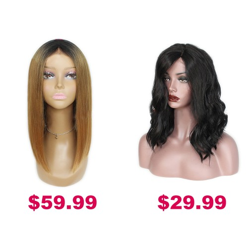 Buy One Get Second Half Price Synthetic Wig Pack PWSF459