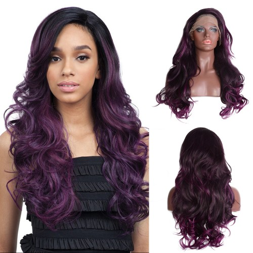 Lace Front Synthetic Hair Wig PWS488 Body Wavy
