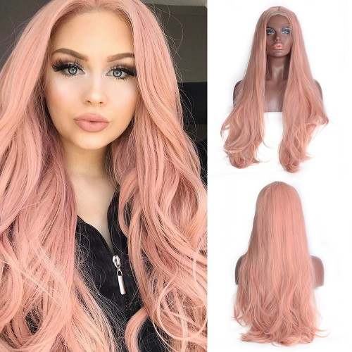 Lace Front Synthetic Hair Wig PWS495 Natural Wavy