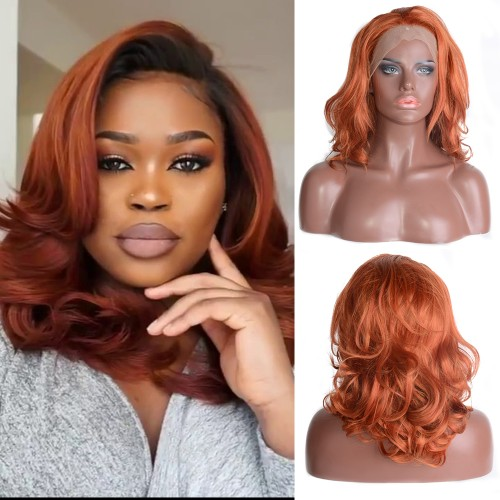 Lace Front Synthetic Hair Wig PWS496 Natural Wavy