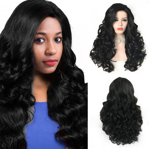 Lace Front Synthetic Hair Wig PWS501 Body Wavy