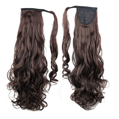 "22"" 120g #2/33 Synthetic Hair Long Wavy Clip In Ribbon Ponytail"