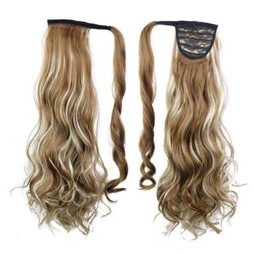 "22"" 120g #6H613 Synthetic Hair Long Wavy Clip In Ribbon Ponytail"
