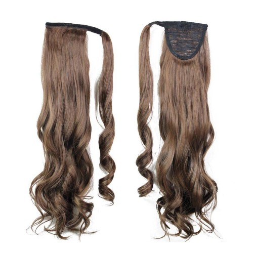 "22"" 120g #2/30 Synthetic Hair Long Wavy Clip In Ribbon Ponytail"